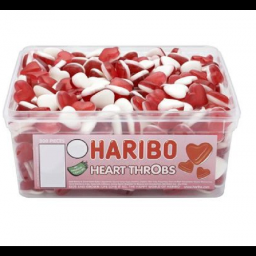 Haribo Heart Throbs Sweets Tub