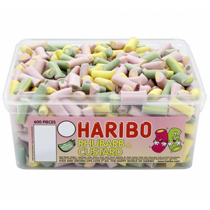 Haribo Rhubarb and Custard Sweets Tub