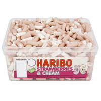 Haribo Strawberries and Cream Sweets Tub