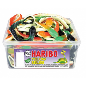 Haribo Yellow Belly Snakes Sweets Tub