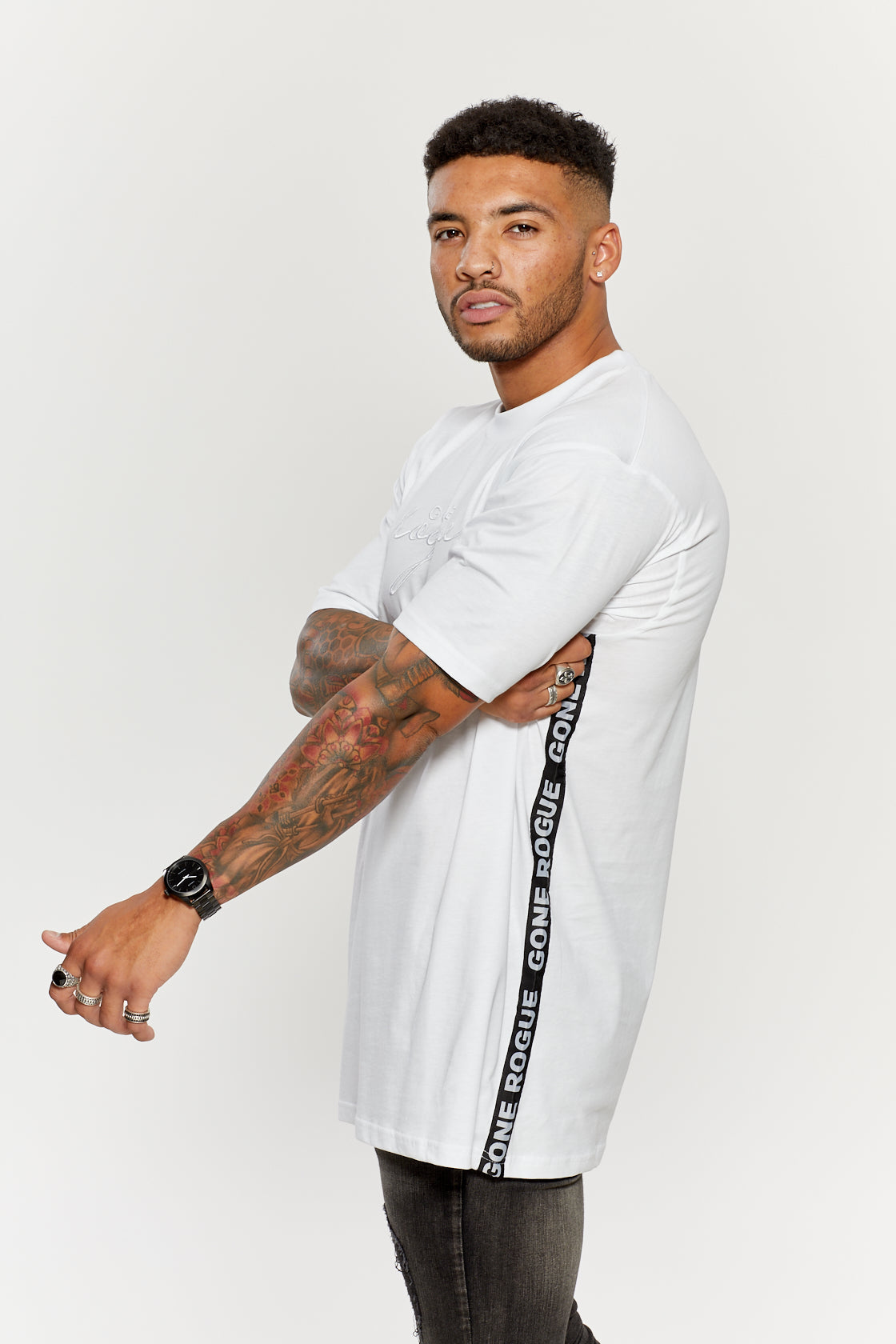 Oversized Tape Tee - White