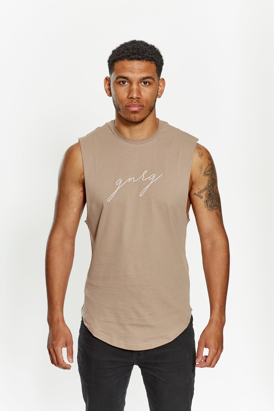 Sleeveless Tee - Taupe