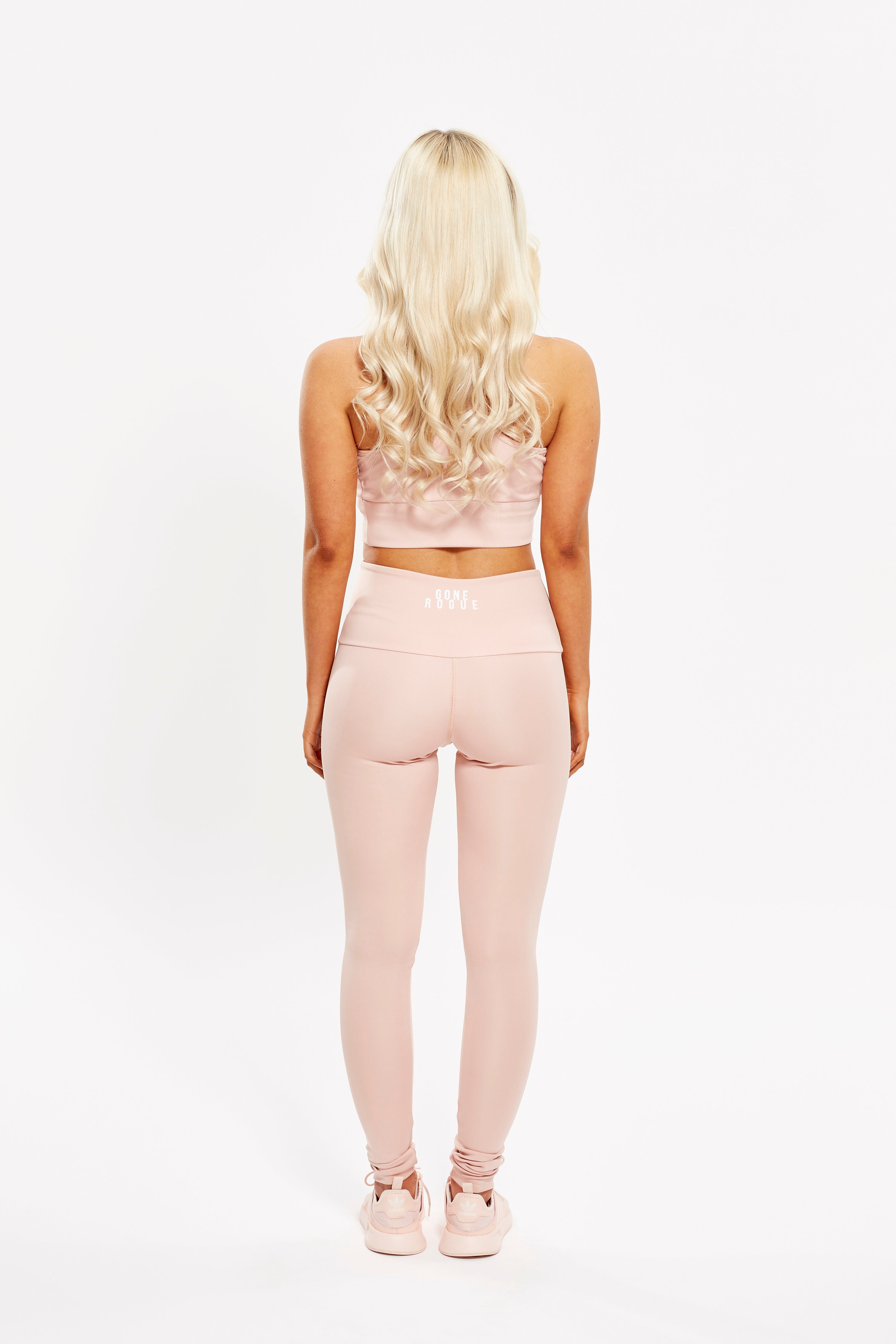 High Waist Leggings - Dusty Pink / SALE