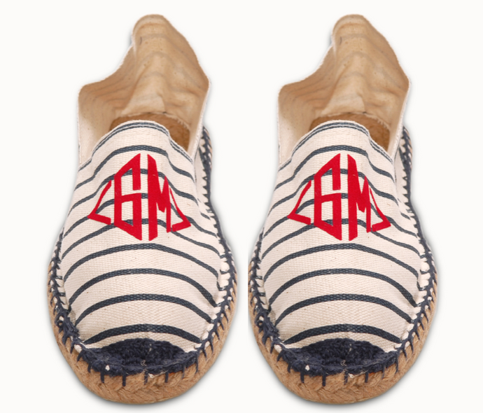 Womens  Striped Espadrilles