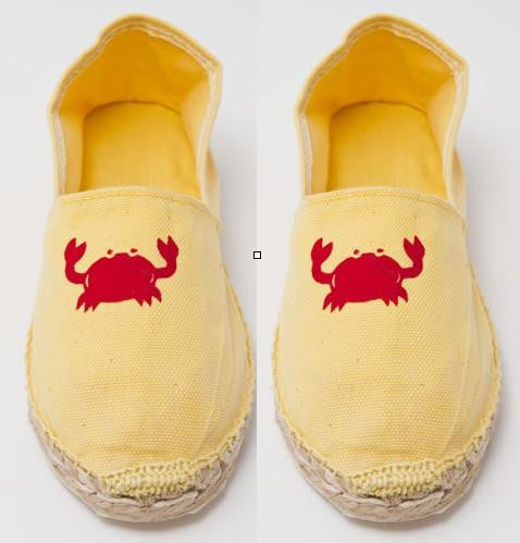 Childrens Yellow Espadrilles