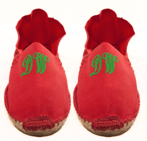 Mens Red Espadrilles