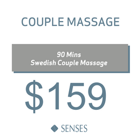 90 Mins Senses Swedish Couples Massage