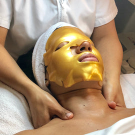Senses Gold Facial +Dermaplaning or Microdermabration + Gold Mask
