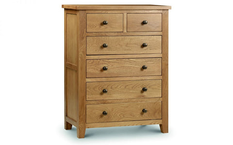 Marlborough Oak 4+2 Drawer Chest - Furniture - Dream Floors and Furniture Ashton-Under-Lyne, Manchester