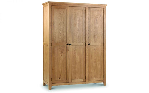 Marlborough Oak 3 Door Wardrobe - Furniture - Dream Floors and Furniture Ashton-Under-Lyne, Manchester