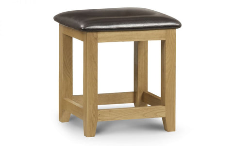 Marlborough Oak Dressing Stool - Furniture - Dream Floors and Furniture Ashton-Under-Lyne, Manchester