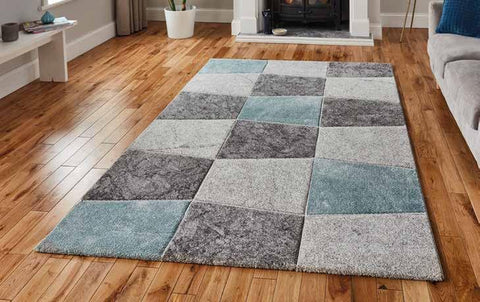 Brooklyn 22192 Grey/Blue - Rug - Dream Floors and Furniture Ashton-Under-Lyne, Manchester