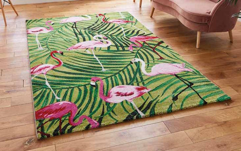 Havana 2349 Green/Pink - Rug - Dream Floors and Furniture Ashton-Under-Lyne, Manchester