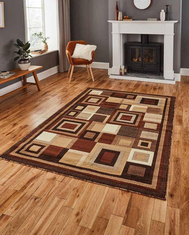 Hudson 3222 Brown/Beige - Rug - Dream Floors and Furniture Ashton-Under-Lyne, Manchester