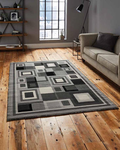 Hudson 3222 Grey - Rug - Dream Floors and Furniture Ashton-Under-Lyne, Manchester