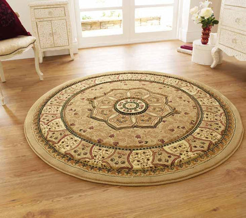 Heritage 4400 Beige Circle - Rug - Dream Floors and Furniture Ashton-Under-Lyne, Manchester