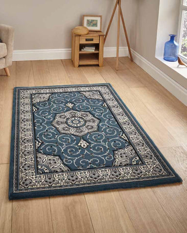Heritage 4400 Dark Blue - Rug - Dream Floors and Furniture Ashton-Under-Lyne, Manchester