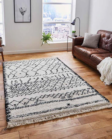 Boho 5402 Black/White - Rug - Dream Floors and Furniture Ashton-Under-Lyne, Manchester
