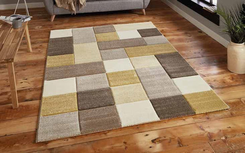 Brooklyn 646 Beige/Yellow - Rug - Dream Floors and Furniture Ashton-Under-Lyne, Manchester
