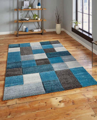 Brooklyn 646 Blue/Grey - Rug - Dream Floors and Furniture Ashton-Under-Lyne, Manchester
