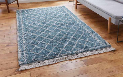 Boho 7043 Blue - Rug - Dream Floors and Furniture Ashton-Under-Lyne, Manchester