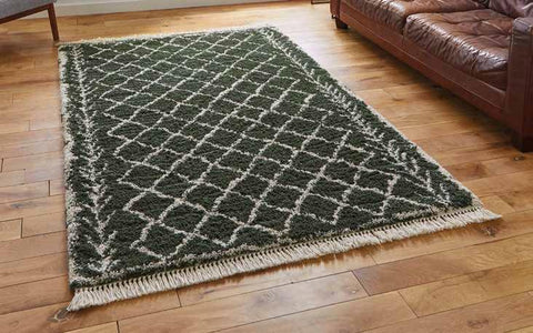 Boho 7043 Green - Rug - Dream Floors and Furniture Ashton-Under-Lyne, Manchester