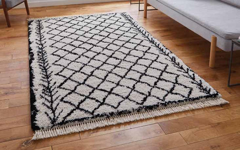 Boho 7043 White/Black - Rug - Dream Floors and Furniture Ashton-Under-Lyne, Manchester