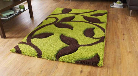 Fashion 7647 Green/Brown - Rug - Dream Floors and Furniture Ashton-Under-Lyne, Manchester