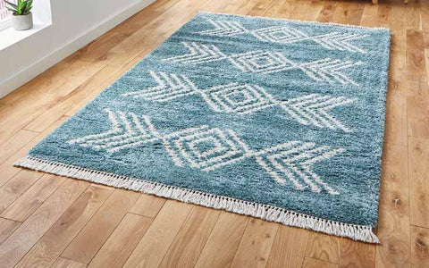 Boho 8886 Blue - Rug - Dream Floors and Furniture Ashton-Under-Lyne, Manchester