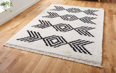 Boho 8886 Ivory/Black - Rug - Dream Floors and Furniture Ashton-Under-Lyne, Manchester