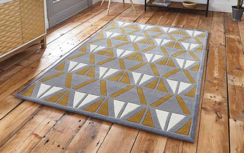 Hong Kong 1374 Grey/Yellow - Rug - Dream Floors and Furniture Ashton-Under-Lyne, Manchester