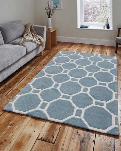 Hong Kong 4338 Light Blue - Rug - Dream Floors and Furniture Ashton-Under-Lyne, Manchester