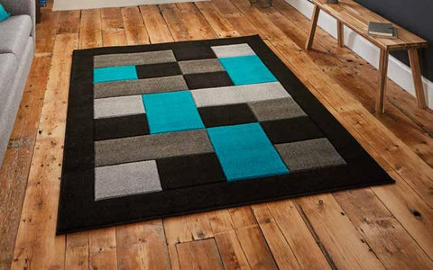 Matrix MT04 Black/Blue - Rug - Dream Floors and Furniture Ashton-Under-Lyne, Manchester