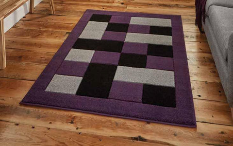 Matrix MT04 Grey/Purple - Rug - Dream Floors and Furniture Ashton-Under-Lyne, Manchester