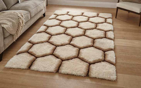 Noble House NH30782 Cream/Brown - Rug - Dream Floors and Furniture Ashton-Under-Lyne, Manchester