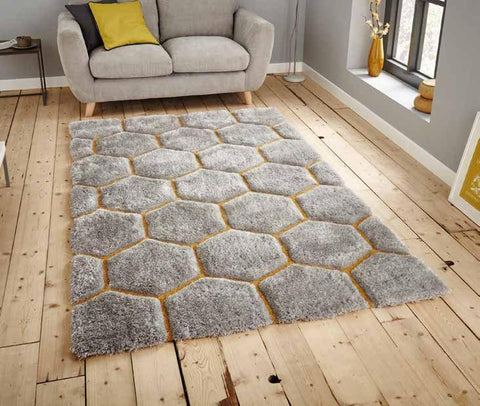 Noble House NH30782 Grey/Yellow - Rug - Dream Floors and Furniture Ashton-Under-Lyne, Manchester