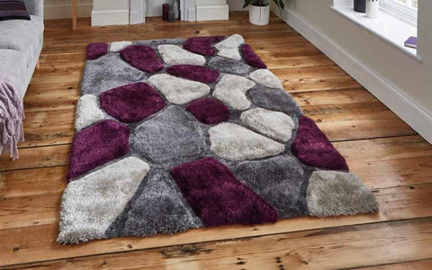 Noble House NH5858 Grey/Purple - Rug - Dream Floors and Furniture Ashton-Under-Lyne, Manchester