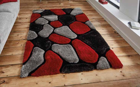 Noble House NH5858 Grey/Red - Rug - Dream Floors and Furniture Ashton-Under-Lyne, Manchester