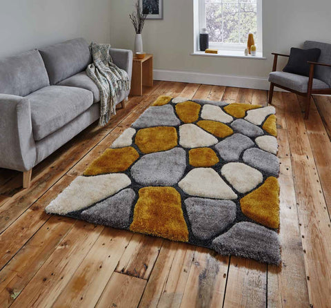 Noble House NH5858 Grey/Yellow - Rug - Dream Floors and Furniture Ashton-Under-Lyne, Manchester