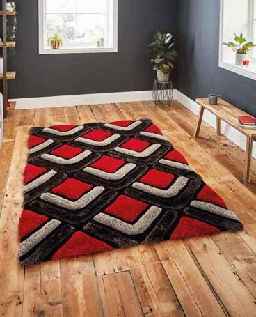Noble House NH8199 Black/Red - Rug - Dream Floors and Furniture Ashton-Under-Lyne, Manchester