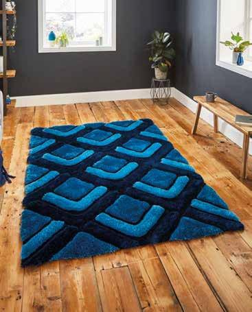 Noble House NH8199 Dark Blue - Rug - Dream Floors and Furniture Ashton-Under-Lyne, Manchester