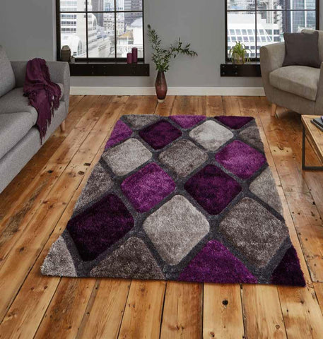 Noble House 9247 Grey/Purple - Rug - Dream Floors and Furniture Ashton-Under-Lyne, Manchester