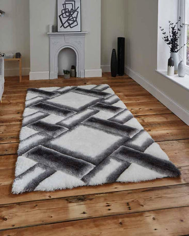 Noble House NH9716 Grey/Ivory - Rug - Dream Floors and Furniture Ashton-Under-Lyne, Manchester