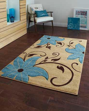 Verona OC15 Beige/Blue - Rug - Dream Floors and Furniture Ashton-Under-Lyne, Manchester