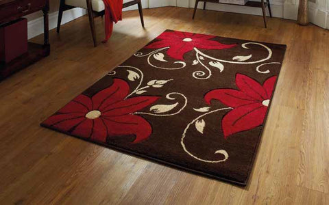 Verona OC15 Brown/Red - Rug - Dream Floors and Furniture Ashton-Under-Lyne, Manchester