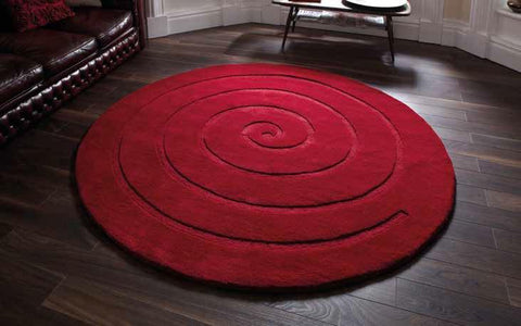 Spiral Red - Rug - Dream Floors and Furniture Ashton-Under-Lyne, Manchester