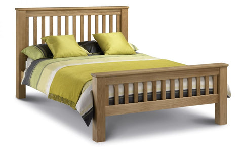 Amsterdam Oak Bed - High Foot End - Furniture - Dream Floors and Furniture Ashton-Under-Lyne, Manchester