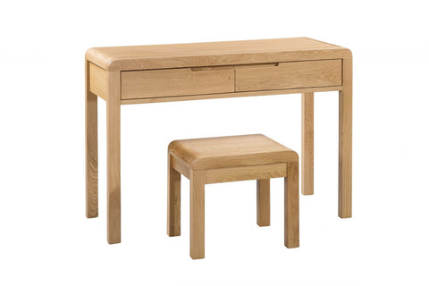 Curve 2 Drawer Dressing Table & Stool - Furniture - Dream Floors and Furniture Ashton-Under-Lyne, Manchester