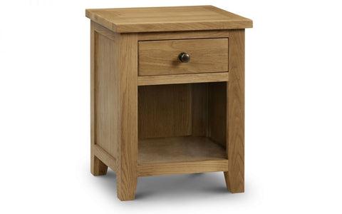 Marlborough Oak 1 Drawer Bedside - Furniture - Dream Floors and Furniture Ashton-Under-Lyne, Manchester