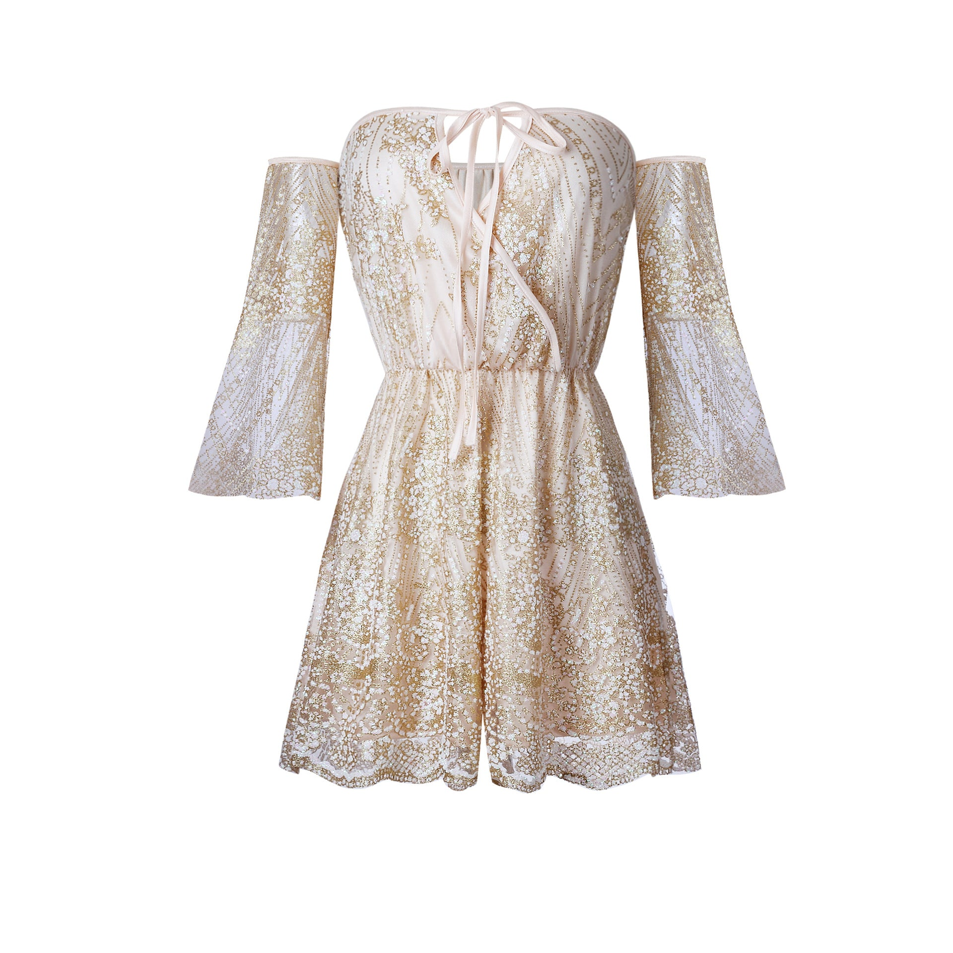 SUMMER SEQUIN PLAYSUIT Playsuit - Zia Clothing Company